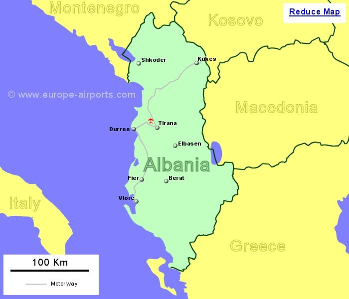 Albania Beaches Map Large Map of Albania Showing