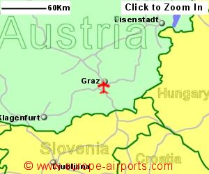 Graz Thalerhof Airport Austria GRZ Guide Flights - Graz austria map