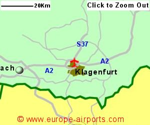 Klagenfurt K Rnten Airport Austria KLU Guide Flights - Klagenfurt austria map