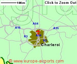 Charleroi Brussels South Airport Belgium CRL Guide Flights - Brussels location on world map