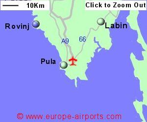 Pula airport croatia puy guide flights detailed map showing location of pula airport croatia publicscrutiny Images