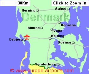 Esbjerg Airport, Denmark (EBJ) - Guide & Flights