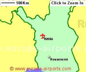 Kittila airport finland ktt guide flights map showing location of kittila airport finland sciox Image collections