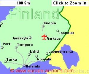 Varkaus airport finland vrk guide flights map showing location of varkaus airport finland sciox Image collections