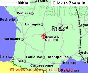 Map Of France Showing Airports.Brive Vallee De La Dordogne Airport France Bve Guide Flights