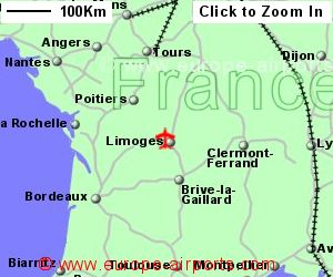 Limoges Bellegarde Airport France LIG Guide Flights - Limoges france map