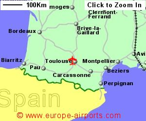 toulouse airport flight map. Black Bedroom Furniture Sets. Home Design Ideas