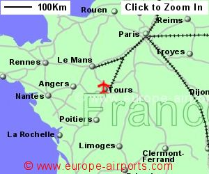 Tours Loire Valley Airport France TUF Guide Flights