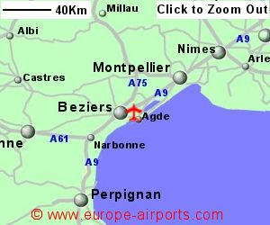 Beziers Airport Map Beziers (Cap d Agde) Airport, France (BZR)   Guide & Flights
