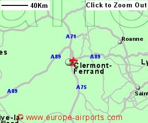 ClermontFerrand Aulnat or Auvergne Airport France CFE