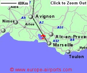 Map Of France Showing Marseille.Marseille Provence Marignane Airport France Mrs Guide Flights
