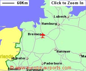 Bremen Airport Germany BRE Guide Flights - Germany map bremen