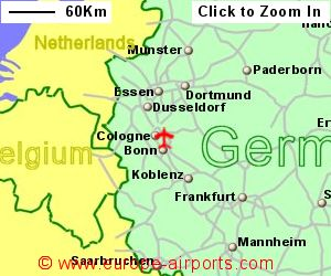 CologneBonn Airport Germany CGN Guide Flights - Germany map airports