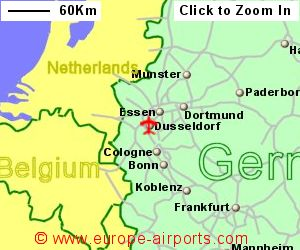 Dusseldorf Airport Germany DUS Guide Flights - Germany map airports