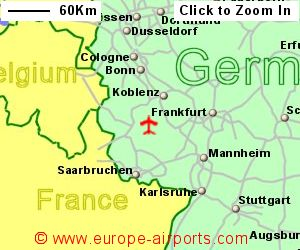 Frankfurt Hahn Airport Germany HHN Guide Flights - Germany map airports