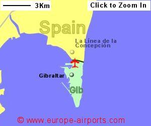 Map Of Spain Near Gibraltar.Gibraltar Airport Gibraltar Gib Guide Flights