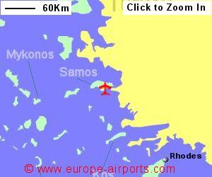 Samos Airport Greece SMI Guide Flights