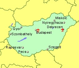 Airports in Hungary with Flights from the UK or Ireland