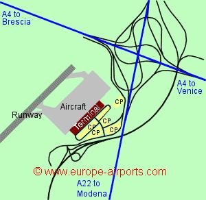 Map Of Italy Showing Verona.Verona Valerio Catullo Airport Italy Vrn Guide Flights