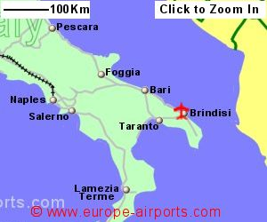 Show A Map Of Italy.Brindisi Airport Italy Bds Guide Flights