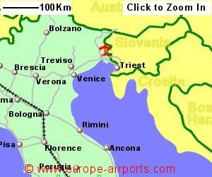 Trieste Pietro Savorgnan Di Brazz Airport Italy TRS Guide - Trieste map