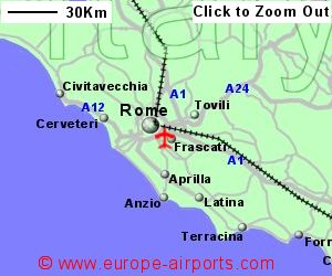 Rome Ciampino Airport Italy CIA Guide Flights - Rome map with airports
