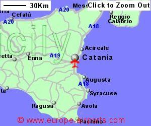 CataniaFontanarossa Airport Italy CTA Guide Flights - Syracuse map italy