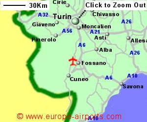 Cuneo Levaldigi Airport Italy CUF Guide Flights
