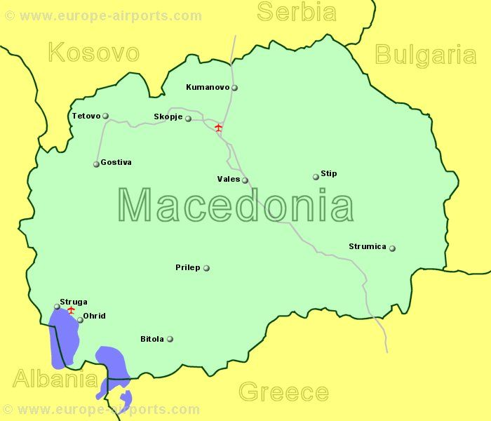 Flights to Airports in Macedonia