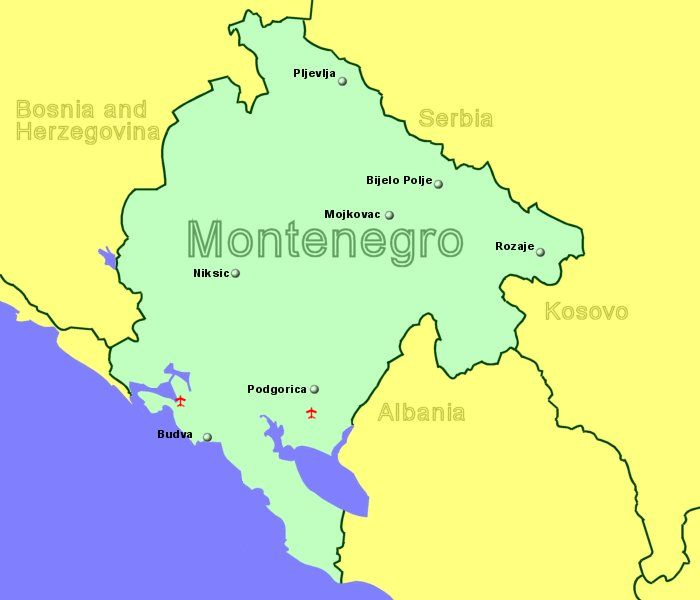 Airports In Montenegro With Flights From The Uk Or Ireland