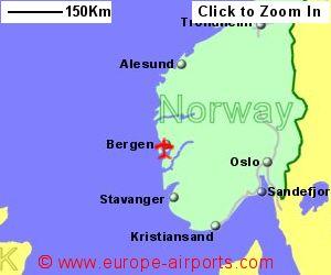 Bergen Flesland Airport Norway BGO Guide Flights - Norway map cartoon