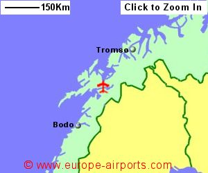 HarstadNarvik Airport Norway EVE Guide Flights - Norway map with airports