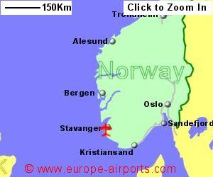 Stavangerin lentokenttä kartta