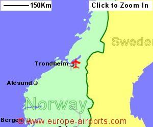 Trondheim Vaernes Airport Norway TRD Guide Flights