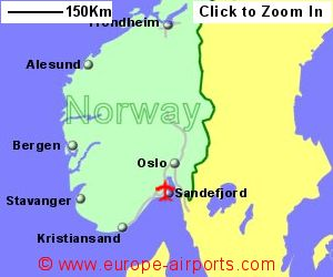 Sandefjord Torp Airport Norway TRF Guide Flights - Norway map world