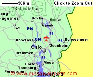 Oslo Gardermoen Airport Norway OSL Guide Flights - Norway map with airports
