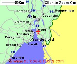 Rygge Moss Airport Norway RYG Guide Flights - Norway map larvik