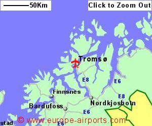 Tromso Airport Norway TOS Guide Flights - Norway map tromso