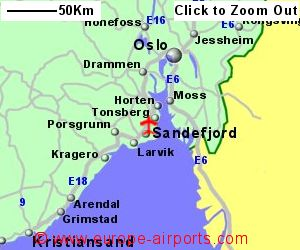 Sandefjord Torp Airport Norway TRF Guide Flights - Norway map detailed