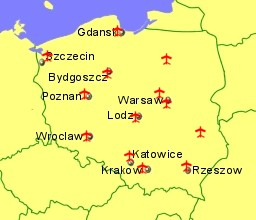 Airports In Poland Guides And Flights - Poland map