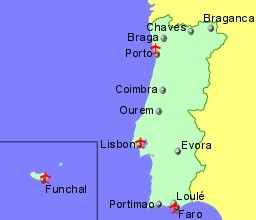 Airports In Portugal And Madeira With Flights From Uk And