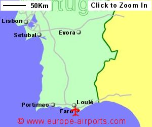 Faro Airport Portugal FAO Guide Flights - Portugal map with airports