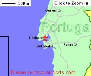 Lisbon Portela Airport Portugal LIS Guide Flights - Portugal map location