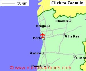 Porto Fracisco Sa Carneiro Airport Portugal OPO Guide Flights - Portugal map with airports