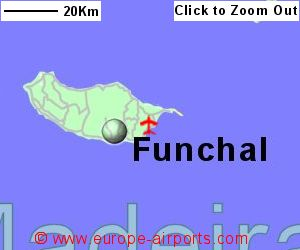 Madeira Funchal Airport Portugal FNC Guide Flights - Portugal map with airports