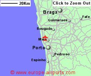 Porto Fracisco Sa Carneiro Airport Portugal OPO Guide Flights - Portugal map braga
