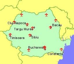 Airports in Romania with Flights from the UK and Ireland
