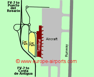 Map Of Fuerteventura Airport Fuerteventura Airport, Spain (FUE)   Guide & Flights