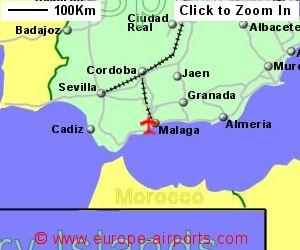 Map Of Spain Showing Malaga.Malaga Airport Spain Agp Guide Flights