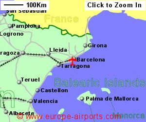 Map Of Spain Near Barcelona.Barcelona El Prat Airport Spain Bcn Guide Flights